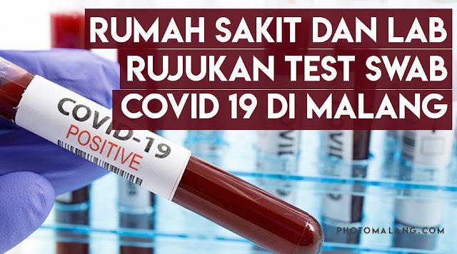 rujukan tes SWAB Rumah sakit dan lab di Malang