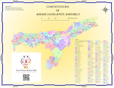 Assam assembly constituencies map