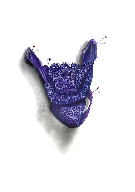 String en dentelle violet