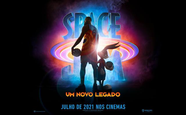 LeBron James e Pernalonga no pôster de SPACE JAM: UM NOVO LEGADO
