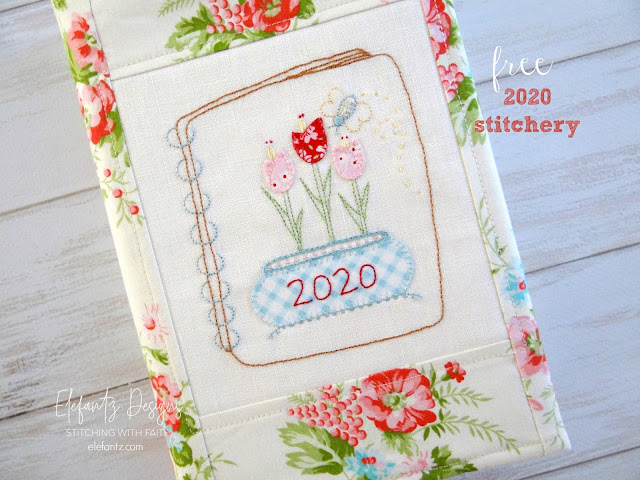 A free 2020 stitchery and a few other things...