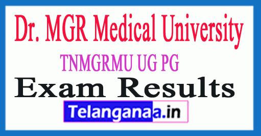 TNMGRMU Results 2019 MGRMU Result
