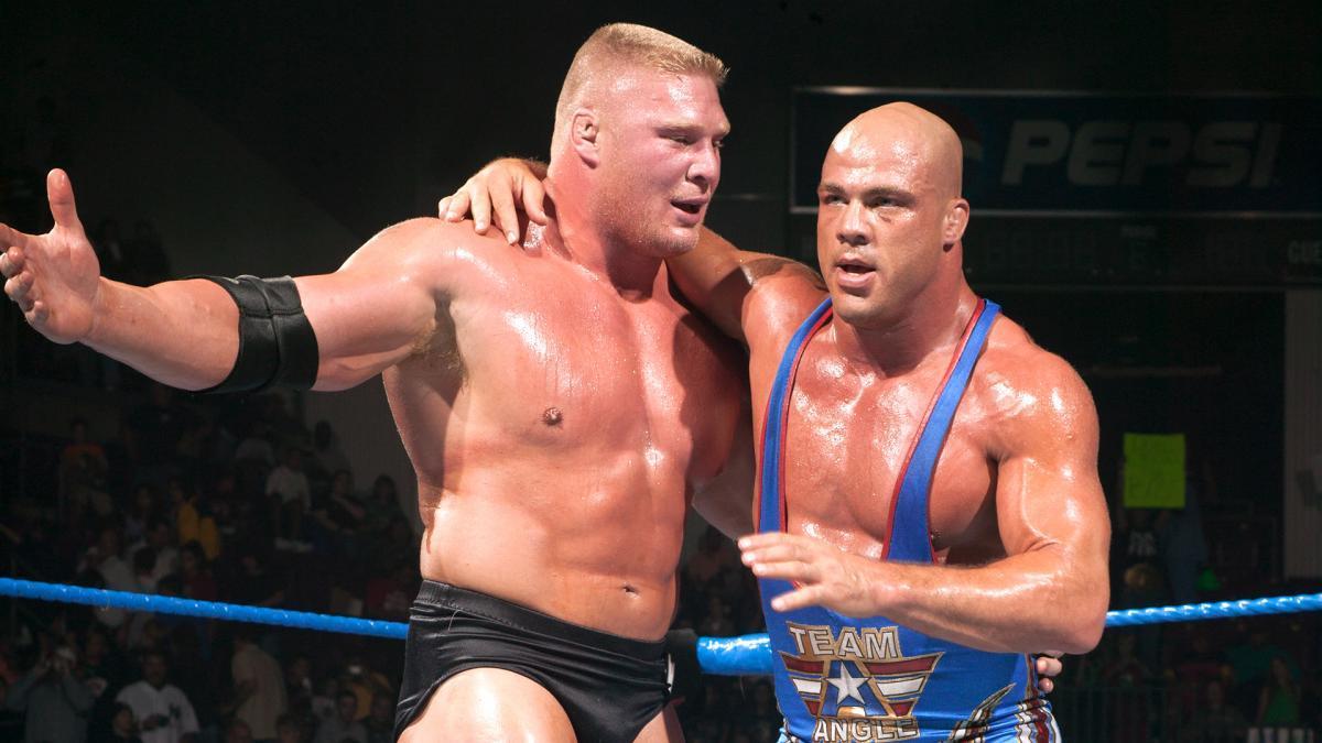 Kurt Angle quer introduzir Brock Lesnar no WWE Hall Of Fame