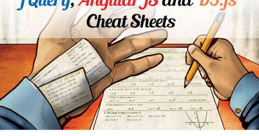 Useful JQuery, D3.js and AngularJS Cheat-Sheets (HD)