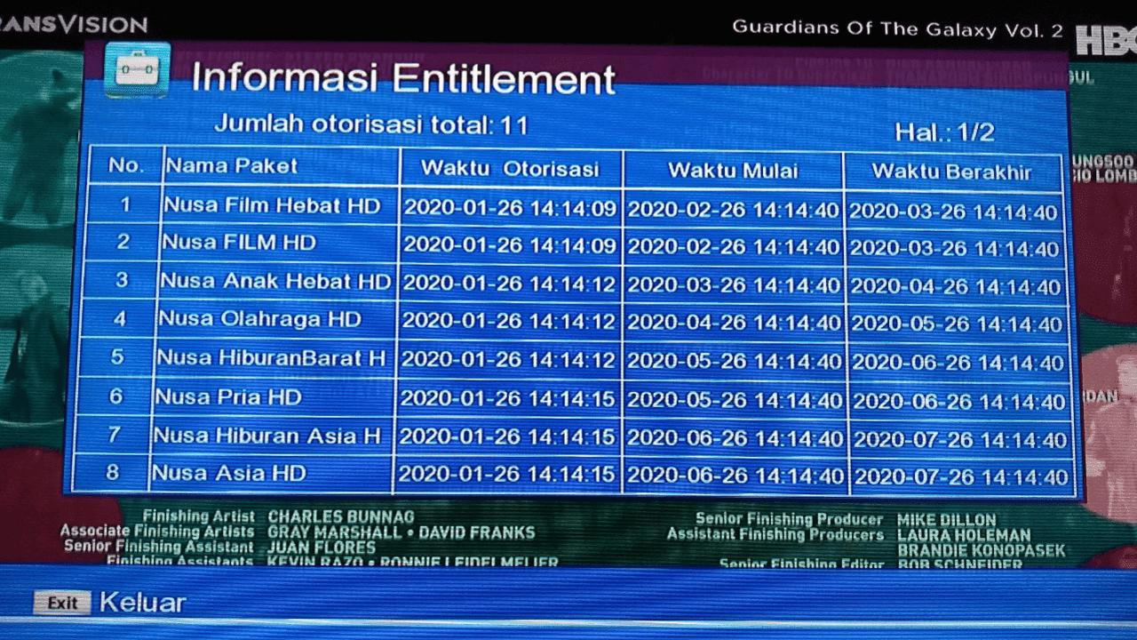 Cara Melihat Paket Aktif di Tranvision Nusantara HD