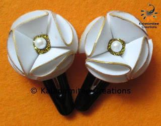 kalanirmitee: foam flowers-flowers-hair-clips- hair accessories