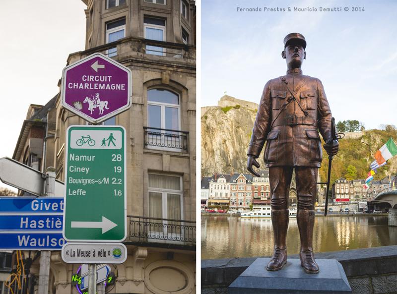 escultura e placas de sinalização