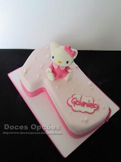 A Hello Kitty no 1º aniversário da Gabriela