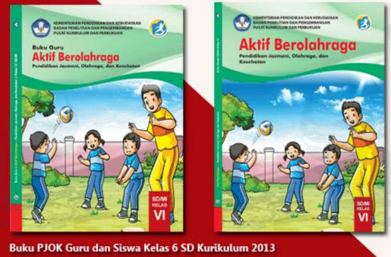 Buku PJOK Kelas 6 Kurikulum 2013 Revisi 2018