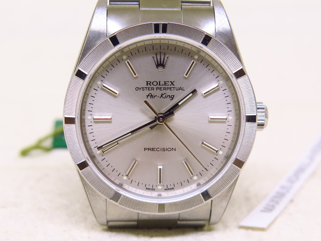 ROLEX OYSTER PERPETUAL AIRKING PRECISION SILVER DIAL - ROLEX 14010M - MINT TO NOS CONDITION