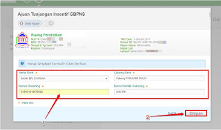 ajuan tunjangan insentif GBPNS di Simpatika