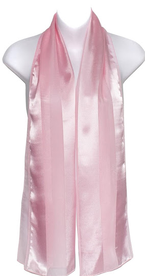 Pink Satin Chiffon Scarves Shawls