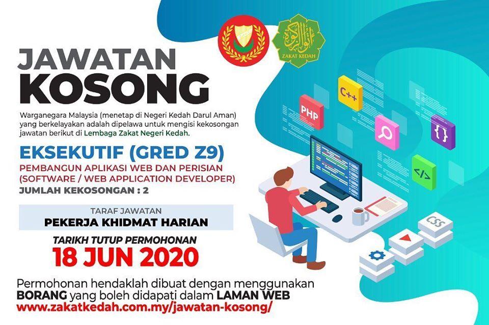 Jawatan Kosong Terkini Di Lembaga Zakat Negeri Kedah Lznk E Semak Com