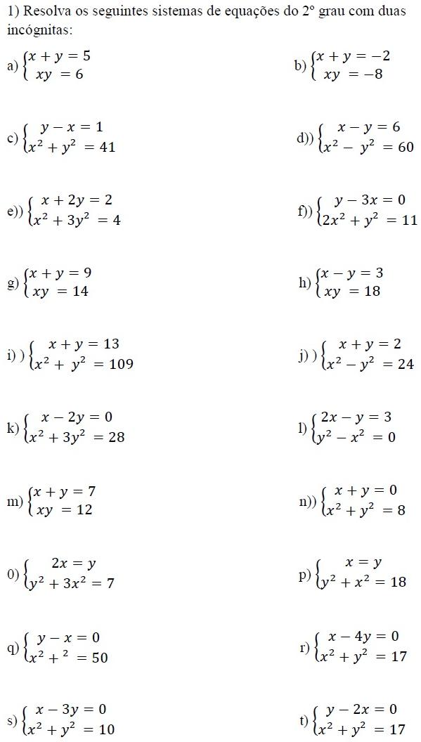 Equações de Segundo Grau (Part One) (Definição (É uma ...