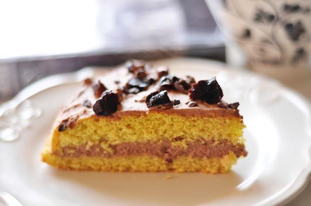 Dietetyczne ciasto z masą czekoladową i masłem orzechowym | bez glutenu /laktozy /cukru  |