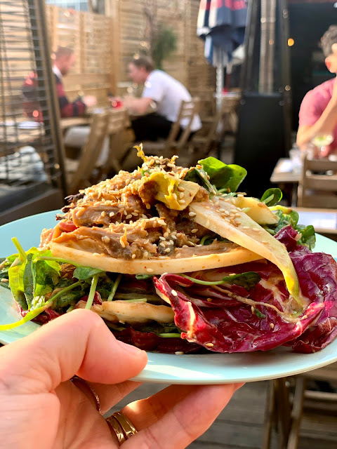 Ling Ling's asian inspired small plates on rooftop terrace at TOLA Peckham