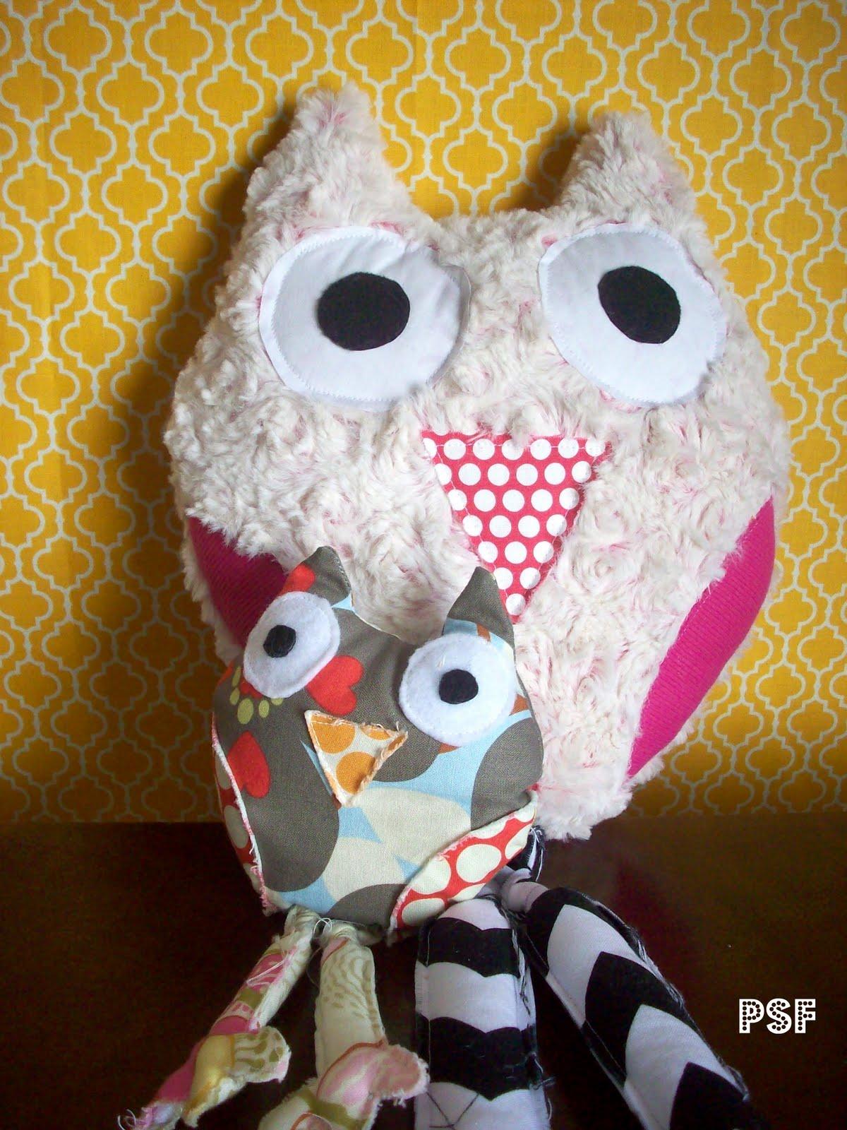 POPPYSEED FABRICS: Rose Cuddle Owl Pillow Tutorial