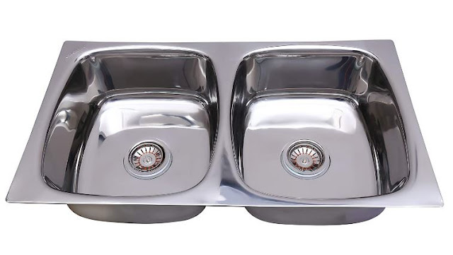 CROCODILE Stainless Steel Double Bowl Kitchen Sink