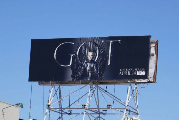 Game of Thrones season 8 Brienne billboard