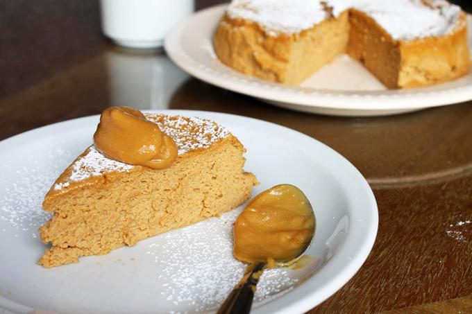 Cheesecake Soufflé de Dulce de Leche