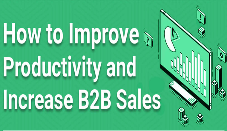 How to Improve Productivity and Increase B2B Sales #infographic