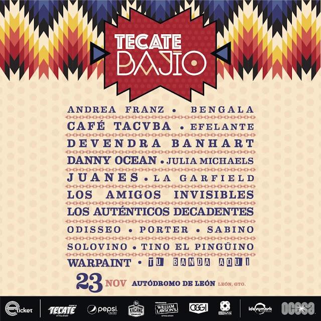 Cartel Tecate Bajío 2019