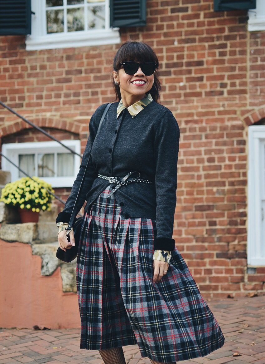 Belted sweater street style