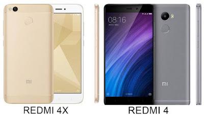 Xiaomi Redmi 4 vs Xiaomi Redmi 4X