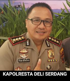 Kapolresta Deli Serdang : Wilayah Deliserdang Serentak Disemprot Disinfektan