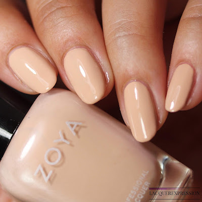Nail polish swatches and review of Chantal from the Zoya Bridal Bliss collection