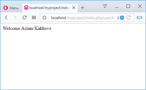 User login successfull login message