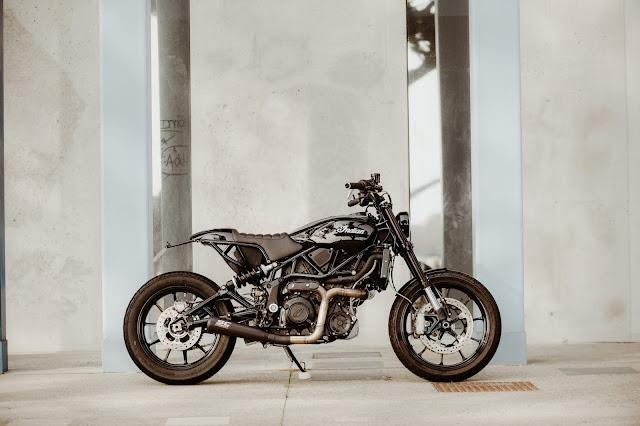 Indian 1200FTR By Sur Les Chapeaux De Roues Hell Kustom