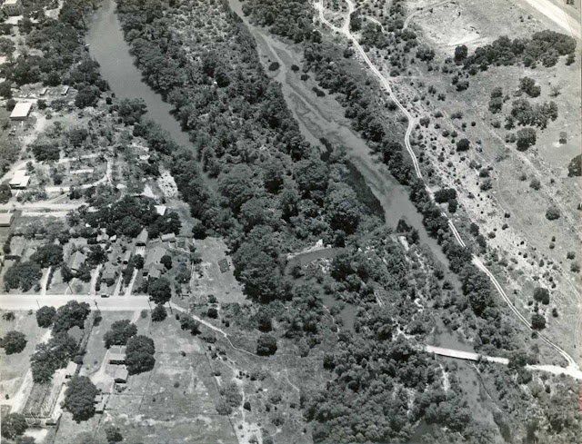 Aerial photograph of Kerrville Texas 1960s