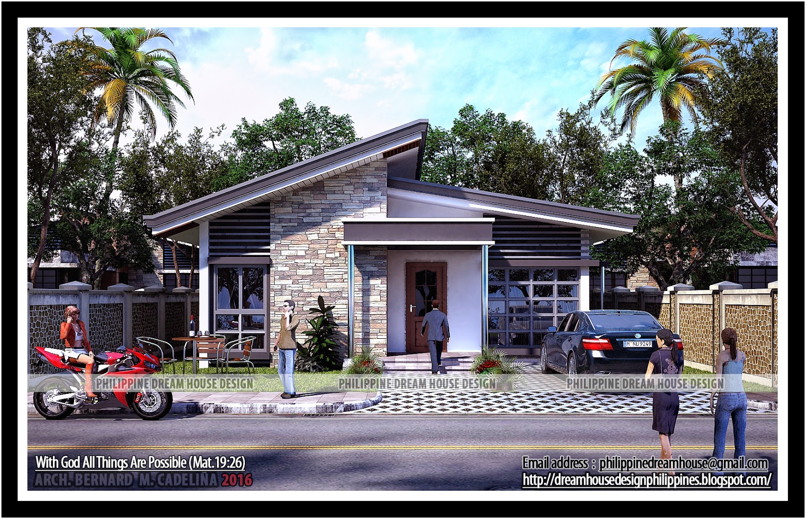 Philippine dream house design two bedroom bungalow house for Bungalow home designs plans