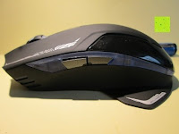 Tasten seitlich: LIHAO E-3lue® MAZER-R EMS152 Gaming Maus kabellos 2.4GHZ 2500DPI, USB, LED