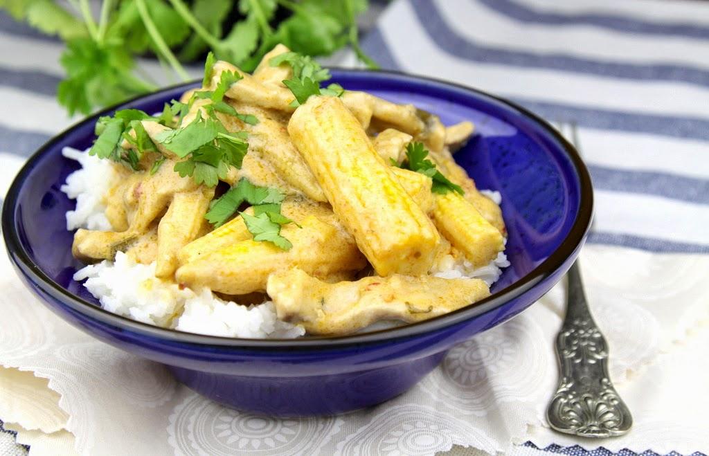 Tajskie curry z wieprzowiny z masłem orzechowym