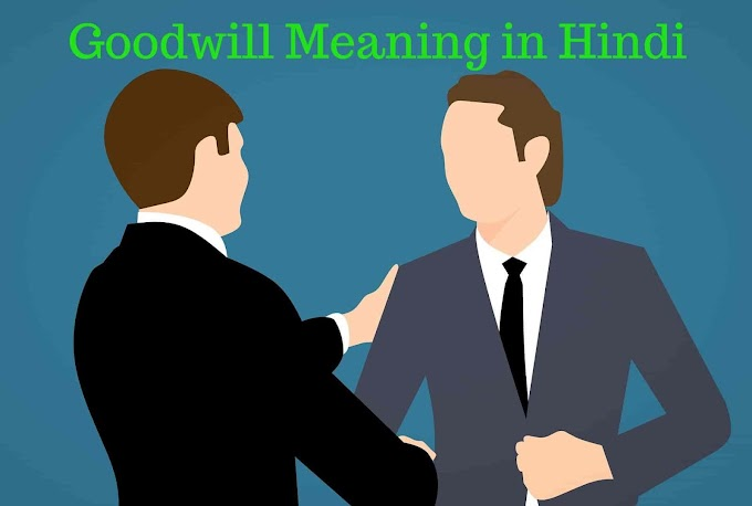 Goodwill क्या होता है - Goodwill Meaning in Hindi