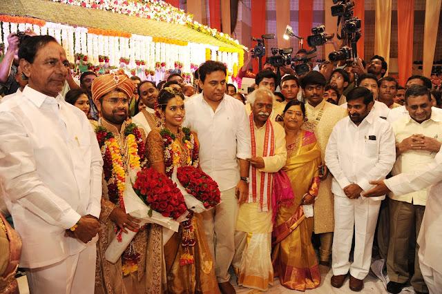 CM KCR, ktr at Bandaru Dattatreya daughter Wedding