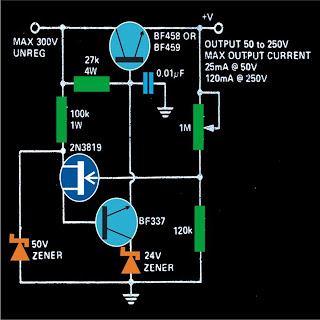 variable 0 to 300 volts regulated power supply circuit. Black Bedroom Furniture Sets. Home Design Ideas