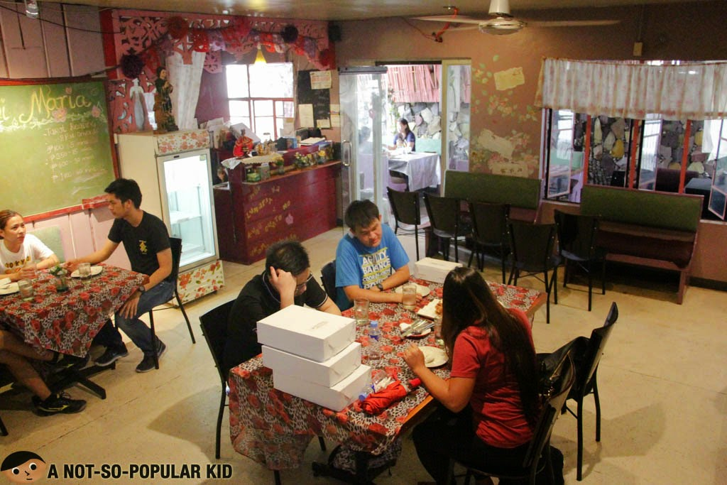 The home-like interior of Gayuma ni Maria in Maginhawa