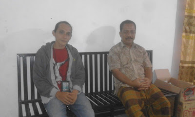 Endin Rusdiana bersama wartawan dakoan.com