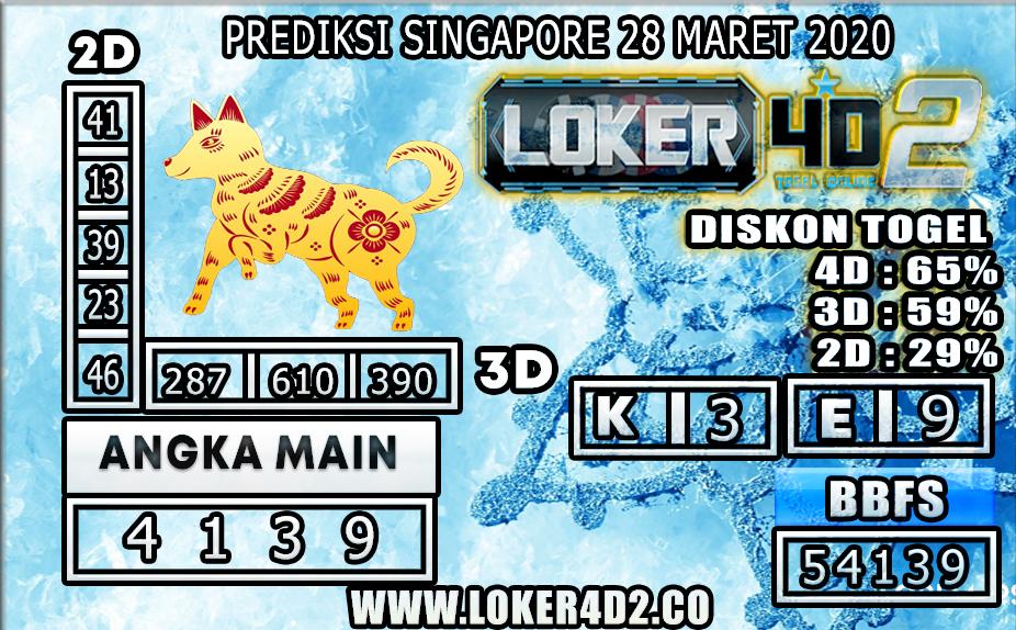 PREDIKSI TOGEL SINGAPORE LOKER4D2 28 MARET 2020
