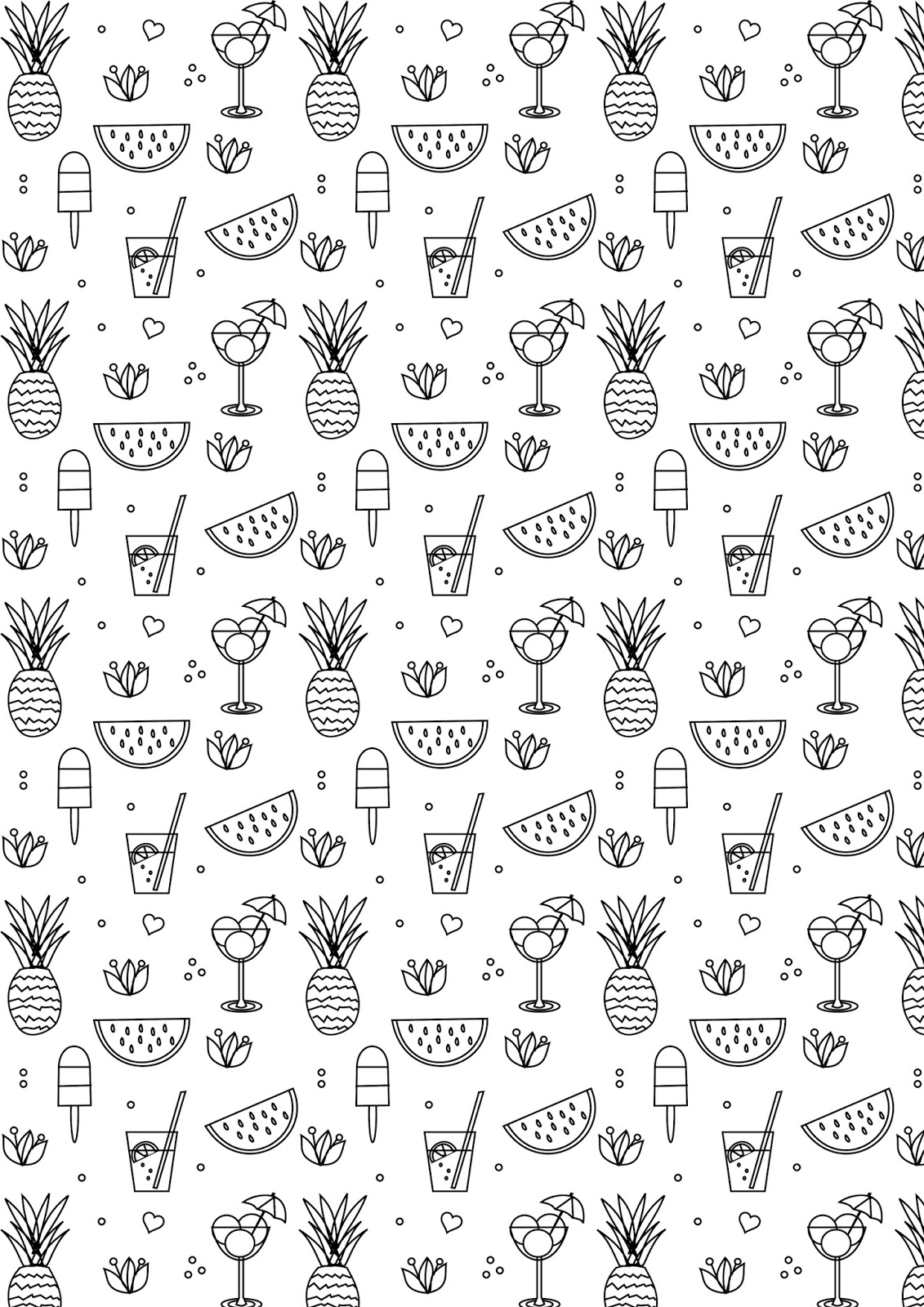 Free printable summer coloring page ausdruckbare