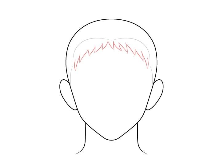 Gambar depan rambut pria runcing anime