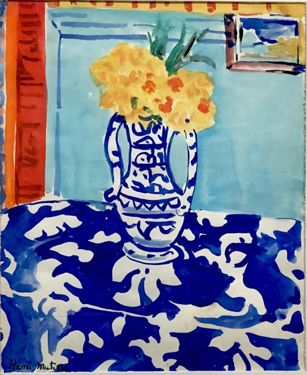 The Lost Sock Henri Matisse Blue Willow Still Life