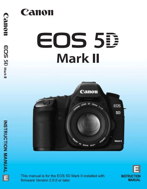Canon EOS 5D Mark II PDF User Guide / Manual Downloads