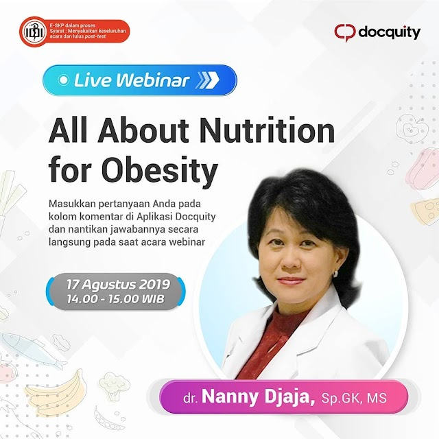 "Free SKP IDI:  ""All about Nutrition for Obesity"" 17 Agustus 2019"