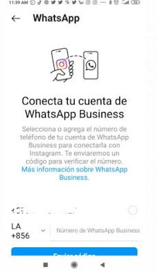 """Coloca el número de Whatsapp que vas a utilizar en esta cuenta y da clic en """"Enviar codigo""""."""