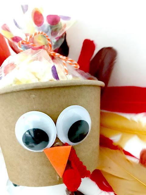 Turkey craft for Thanksgiving.