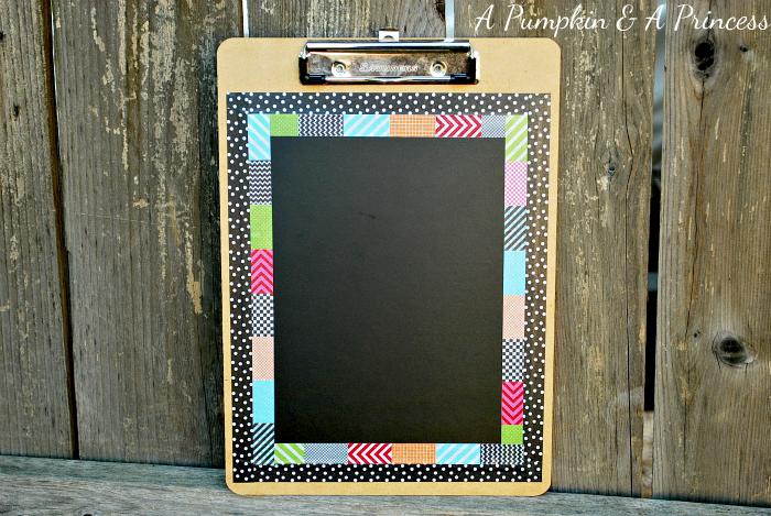 Washi Tape Chalkboard Clipboard